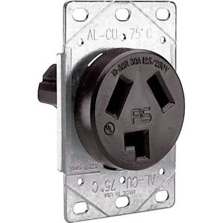 Pass & Seymour 10-30R Flush Mount DRYER OUTLET RECEPTACLE 30A 125/250V 3860