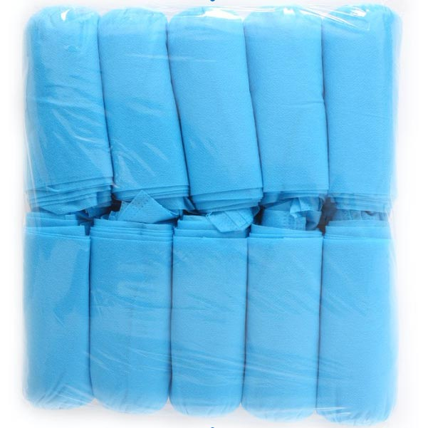 Clean Storm Elastic Ban Disposable Shoe Cover Blue XL 2000 Botties / 1000 pair  Case 20 sleeves
