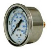 Pressure Gauge 1000 Psi Stainless Steel Back Connection 8.914-830.0  70066A EDIC G13051  LFG-PM-1000  [89148300]