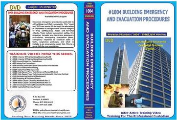 American Training Videos Custodial Series 1004 Building Emergency and Evacuation Procedures