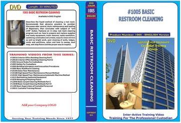 American Training Videos Custodial Series 1005 Basic Rest room Cleaning