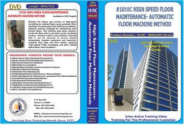 American Training Videos Custodial Series 1010C High Speed Floor Maintenance- Automatic Methods
