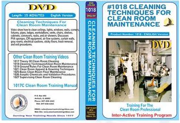 American Training Videos Clean Room Series 1018 Cleaning Techniques for Clean Room Maintenance
