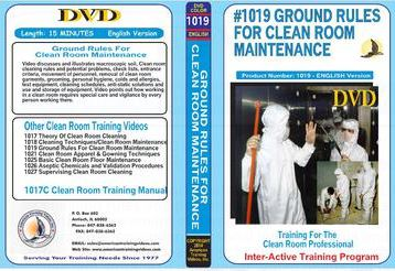 American Training Videos Clean Room Series 1019 Ground Rules for Clean Room Maintenance