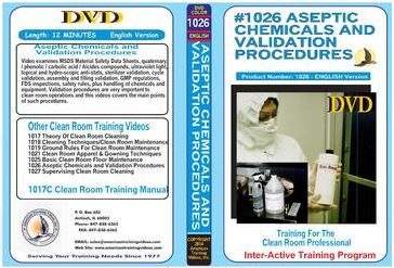 American Training Videos Clean Room Series 1026 Aseptic Chemicals/Validation Procedures
