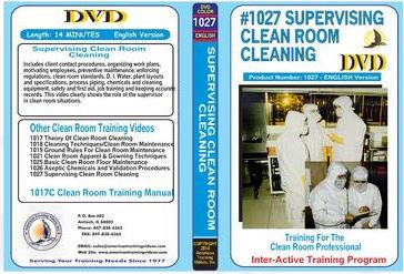 American Training Videos Clean Room Series 1027 Supervising Clean Room Operations