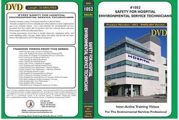 American Training Videos Hospital Series 1052 Safety for Hospital Environmental Services Technicians
