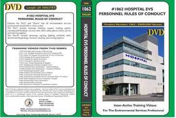 American Training Videos Hospital Series 1062 Hospital Environmental Services Personnel Rules of Conduct
