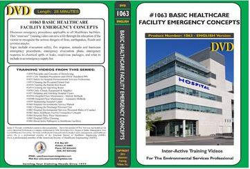 American Training Videos Hospital Series 1063 Basic Healthcare Facility Emergency Concepts