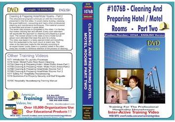 American Training Videos Hospitality Series 1076B Hotel/Motel Room Cleaning and Preparing Part 2