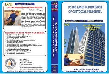 American Training Videos Custodial Series 1100 Basic Supervision of Custodial Personnel
