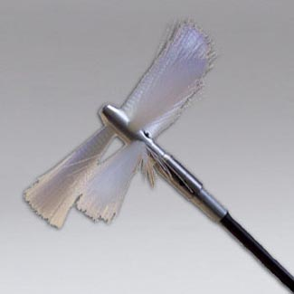 Nikro 861917 Round Soft White 12 Inch Air Duct Cleaning Threaded Brush