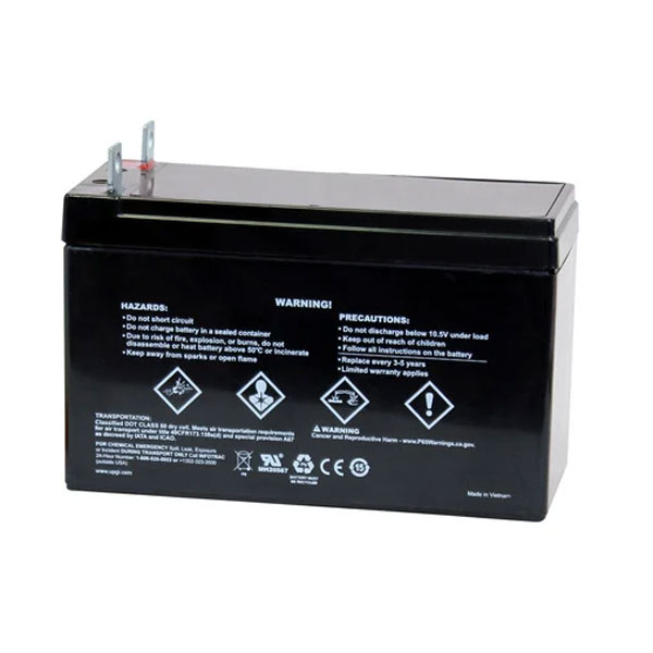 Clean Storm 20200910 12 Volt UPG Sealed Lead Acid Generator Battery — AGM-type 9 Amps Screw In Terminals