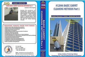 American Training Videos Custodial Series 1204A Basic Carpet Cleaning Methods Part 1