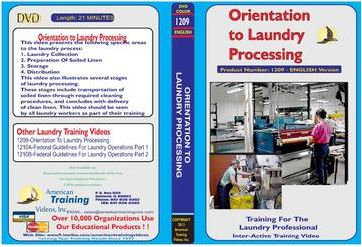 American Training Videos Laundry Series 1209 Orientation to Laundry Processing