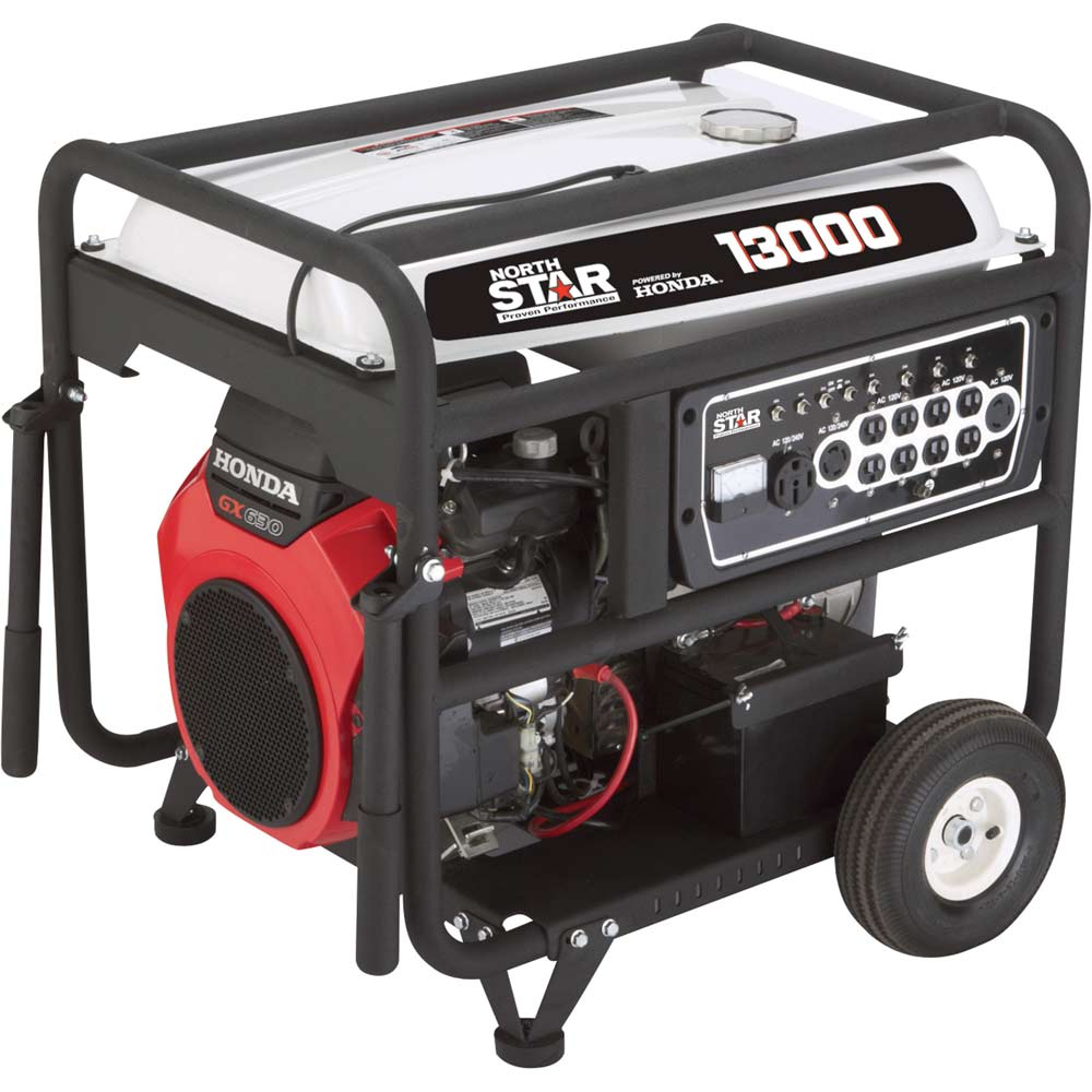 NorthStar 165606 Honda Generator 13000 Surge Watts 10500 Rated Watts Electric Start EPA CARB-Compliant 688cc