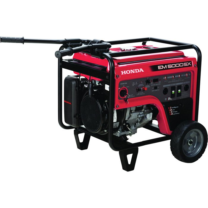 Honda EM5000S iAVR Series Portable Generator 5000 Surge 4500 Watts Electric Start CARB-Compliant 389cc EM5000SXK3  13935