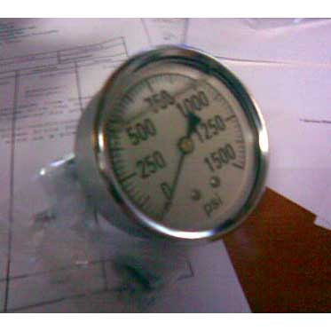 Steambrite: Gauge 1500 psi Panel Mount asa 53615  2241 GXB 1500