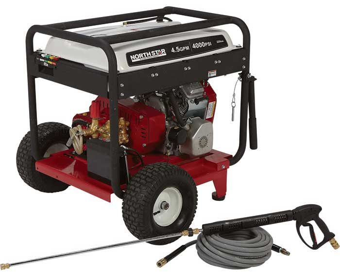 NorthStar Gas Cold Water Pressure Washer — 4.5 GPM, 4000 PSI, Electric Start, Belt Drive, (Free Shipping) [1572081]