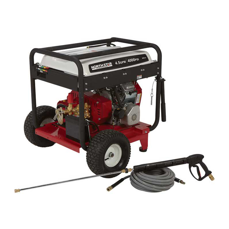 NorthStar 1572081 Gas Cold Water Pressure Washer 4.5 GPM, 4000 PSI, Electric Start, Belt Drive Free Shipping