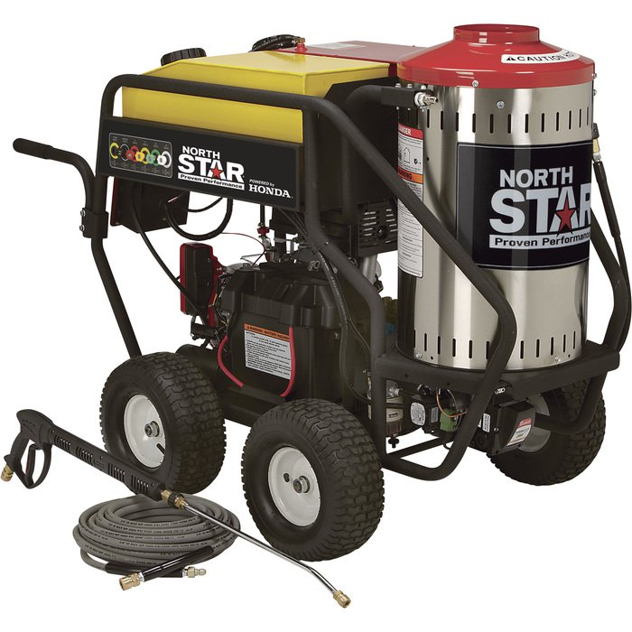NorthStar 157310: Gas Wet Steam & Hot Water Pressure Washer - 3,000 PSI, 4.0 GPM, Honda Engine Free shipping