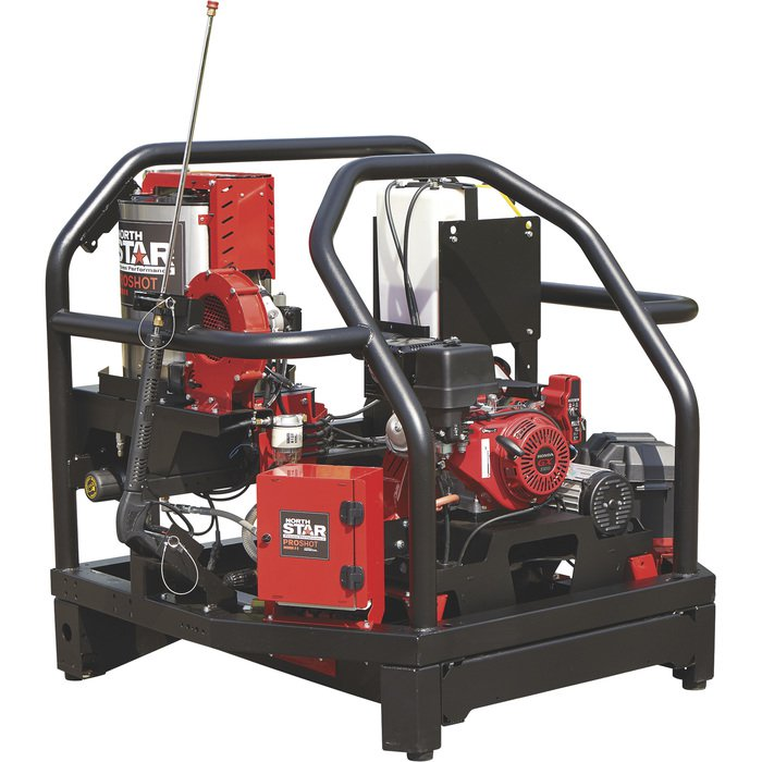 NorthStar 157560 ProShot Hot Water Commercial Pressure Washer Skid — 3000 PSI, 4.0 GPM, Honda Engine — FREE SHIPPING