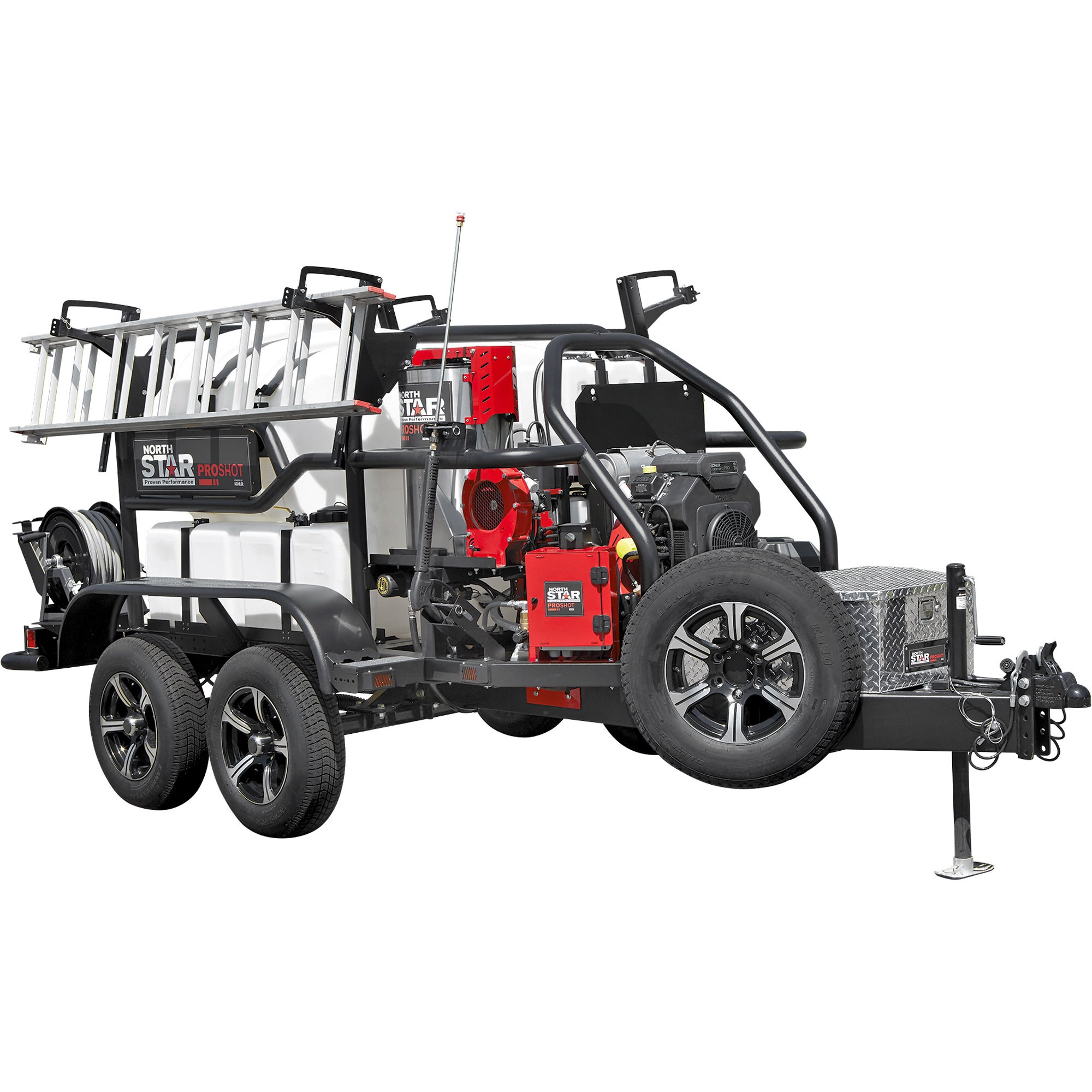 NorthStar 157563 ProShot Hot Water Commercial Pressure Washer Trailer - 4000 PSI, 5.5 GPM, Kohler Engine — FREE SHIPPING