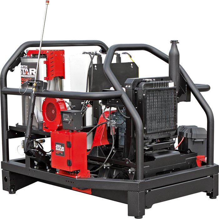 NorthStar 157568 ProShot Hot Water Commercial Pressure Washer Skid — 4000 PSI, 5.5 GPM, Kubota Diesel Engine — FREE SHIPPING