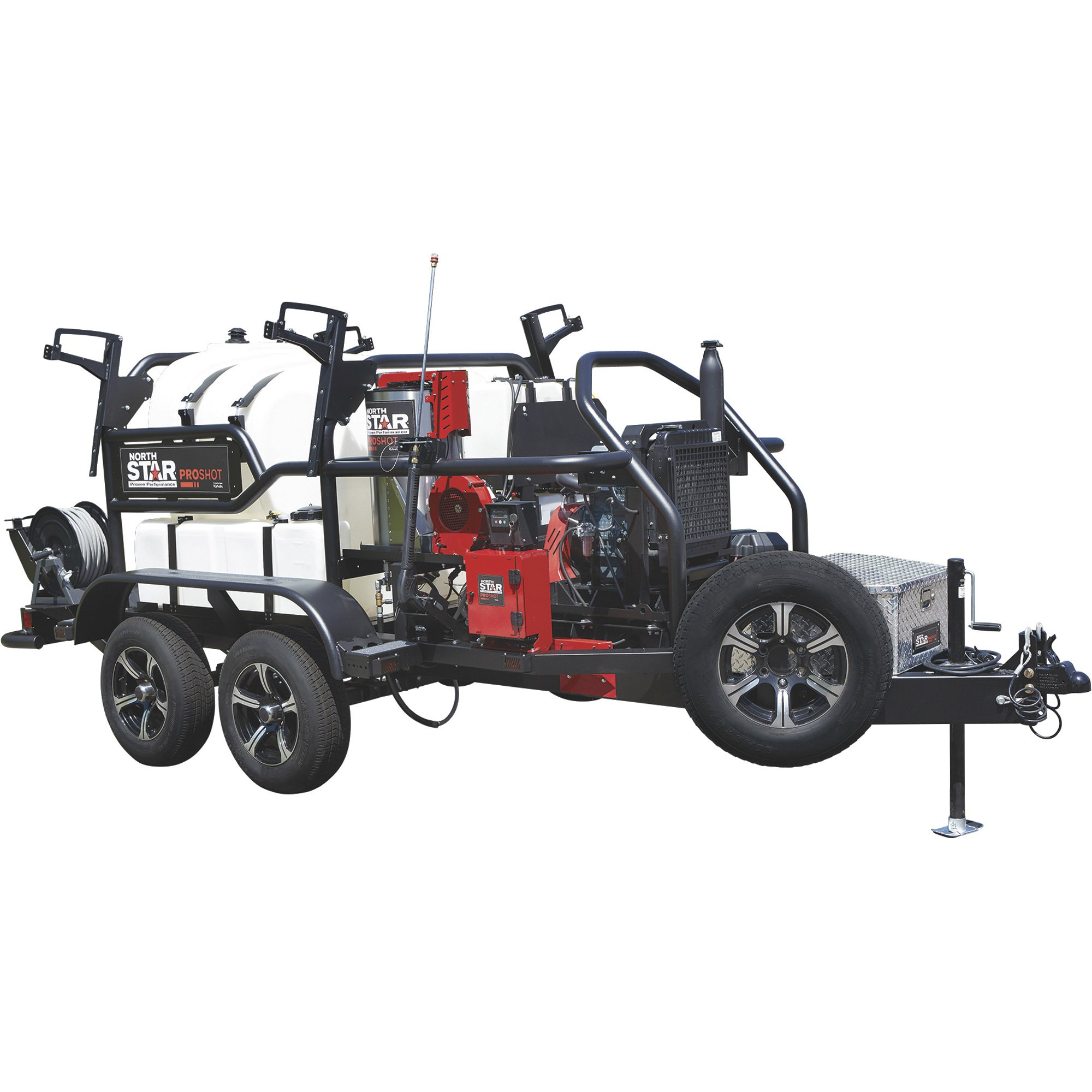 NorthStar 157569 ProShot Hot Water Commercial Pressure Washer Trailer — 4000 PSI, 5.5 GPM, Kubota Diesel Engine , 400 Gal. Water Tank — FREE SHIPPING