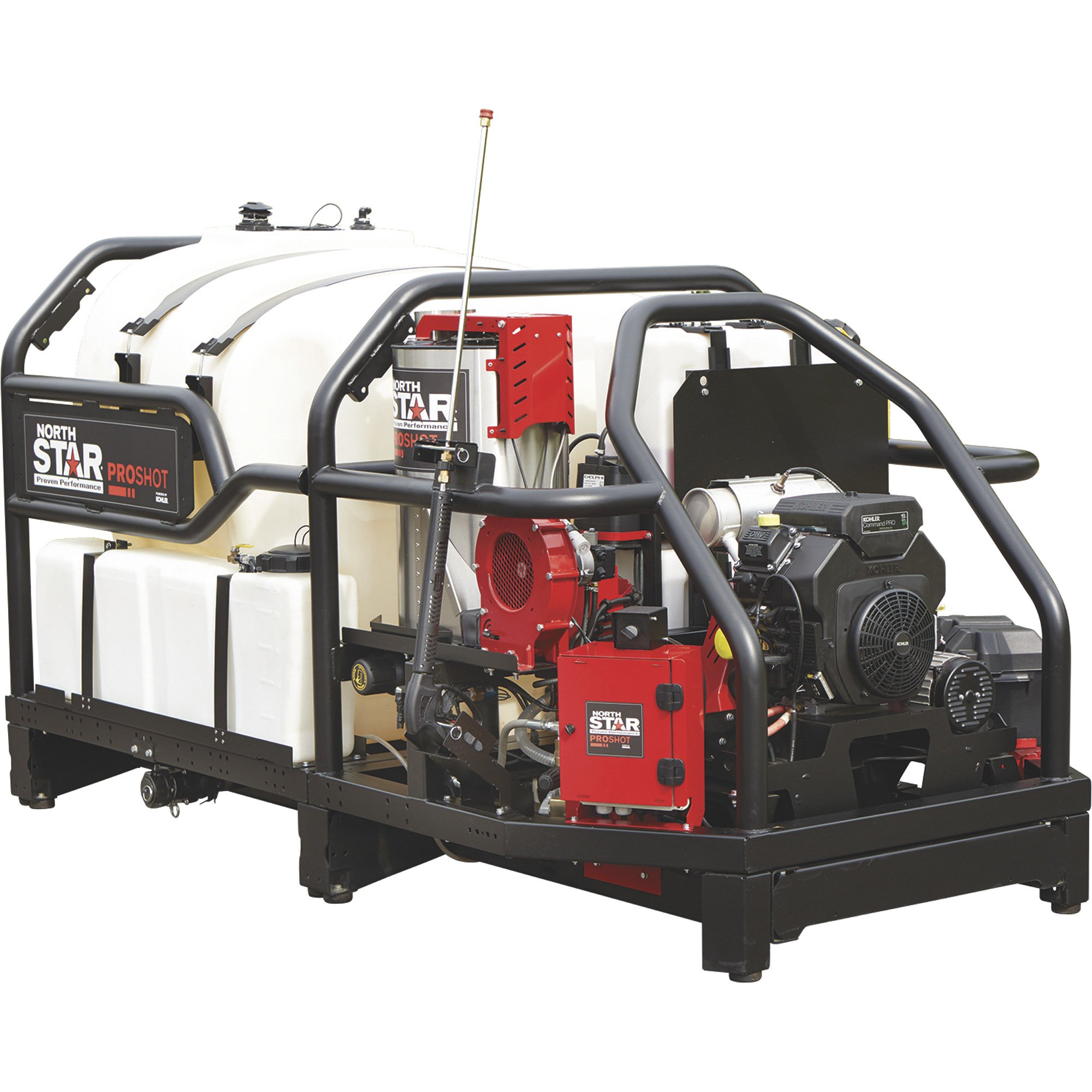 NorthStar 157573 ProShot Hot Water Commercial Pressure Washer Skid — 4000 PSI, 5.5 GPM, Kohler Engine — FREE SHIPPING