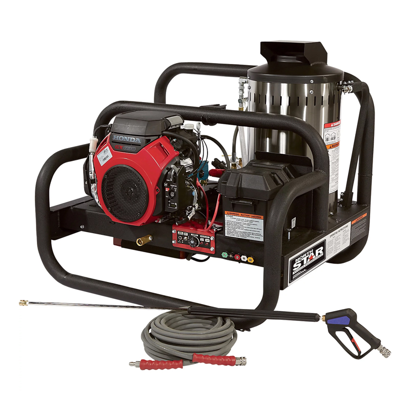NorthStar 157594 Gas Hot Water Commercial Pressure Washer Skid - 4000 PSI 4.0 GPM Honda Engine Freight included