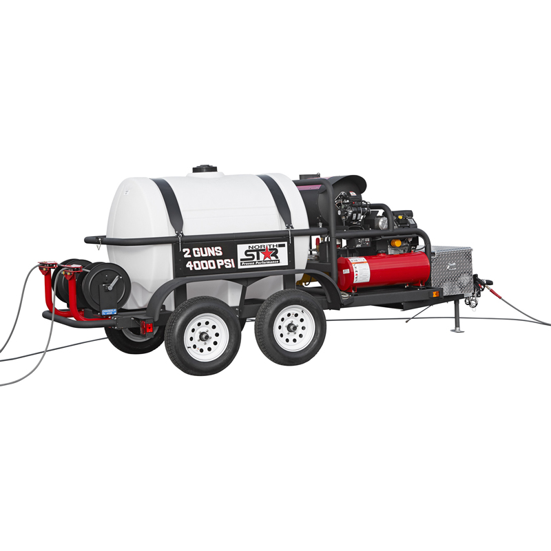 NorthStar 157597: Hot Water Pressure Washer Trailer 2 Gun, 7 GPM, 4000psi FREE Shipping