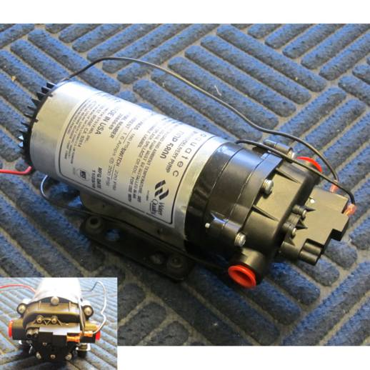 Aquatec 12 Volt 1.35gpm 220psi Triplex Diaphragm W/ Pressure Switch Pump 58-ELK-220-12 - 58-FLC-220-12