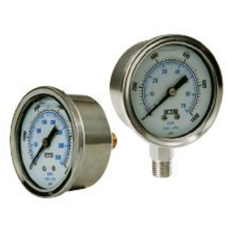 Pressure Gauge 200 Psi Stainless Steel Bottom Mount 8.710-272.0