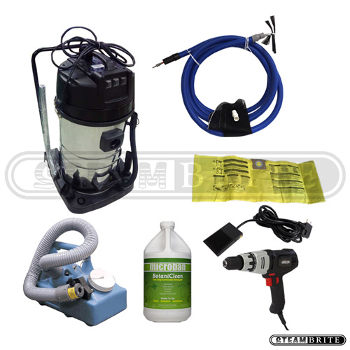 Clean Storm 20140304 Air Duct Starter Package with Triple Motor HEPA Vacuum