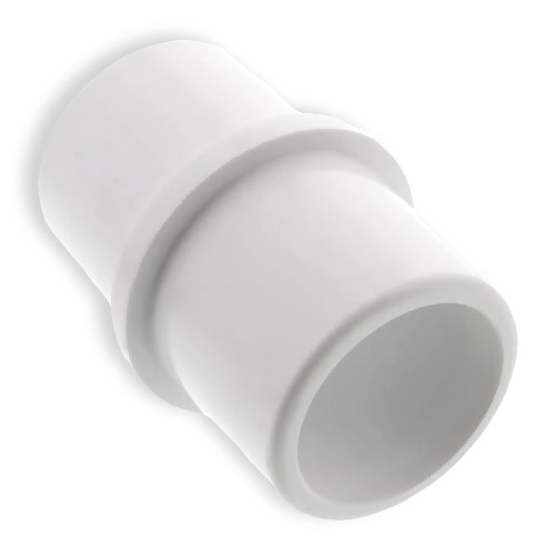 Clean Storm 20141014 Joiner Couple 2in OD Slip X 2in OD Slip White Plastic Vacuum Hose Connector