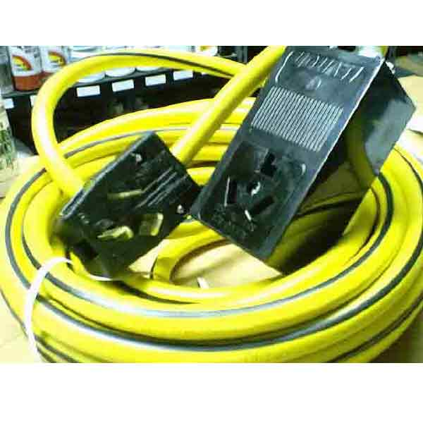 Extension Power Cord 230 Volt 50 ft 10 gauge 3 wire 10-3 with ends installed 10-30P to 10-30R  F193