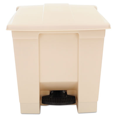 Rubbermaid RCP6143BEI STEP-ON CONTNR 8 GAL BEIGE