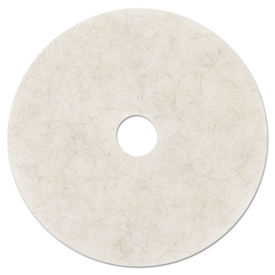"MMM18210 3m/commercial Tape Div. Ultra High-Speed Natural Blend Floor Burnishing Pads 3300, 20"" Dia., White, 5/CT"