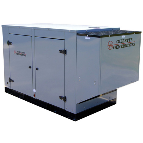 Gillette SP-250-3-4 Open Frame Sentry Pro 25KW Standby Generator 480v 3 Phase 38 Amps Liquid Cooled 1800 Rpm