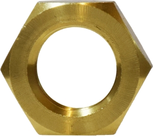 Brass Bar Stock Jam Locknut 1/8 inch FIP 28123