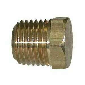 1/2in Mip Brass Plug With Hex Cap Cored to reduce weight 28-204 Buy More $ave More