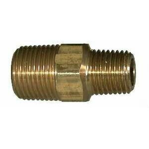 1/8in Mip X 1/4in Mip Reducing Brass Hex Nipple 28220L BR130