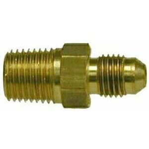 1/4in Mip X 7/16-20 MJic Brass Fitting