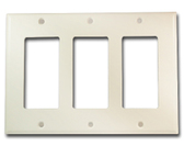Leviton 80411-N - 3-Gang Decora/GFCI Device White Wallplate