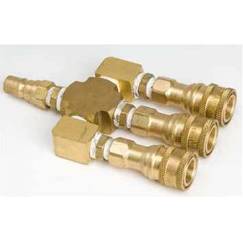 Carpet and Tile cleaning 3 Way QD Manifold Coupler Tee Brass 20160616