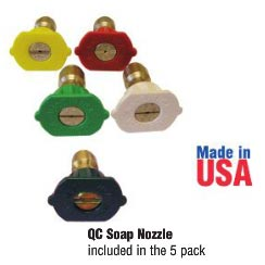 Clean Storm Pressure Washing 3.0 gpm Quick Connect Nozzle Kit 5 pack 9.104-024.0 - 91040240