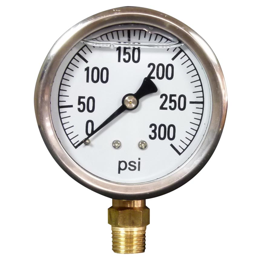 Pressure Gauge 300 Psi Stainless Steel Bottom Mount 8.710-273.0, 85.300.3000  [87102730]