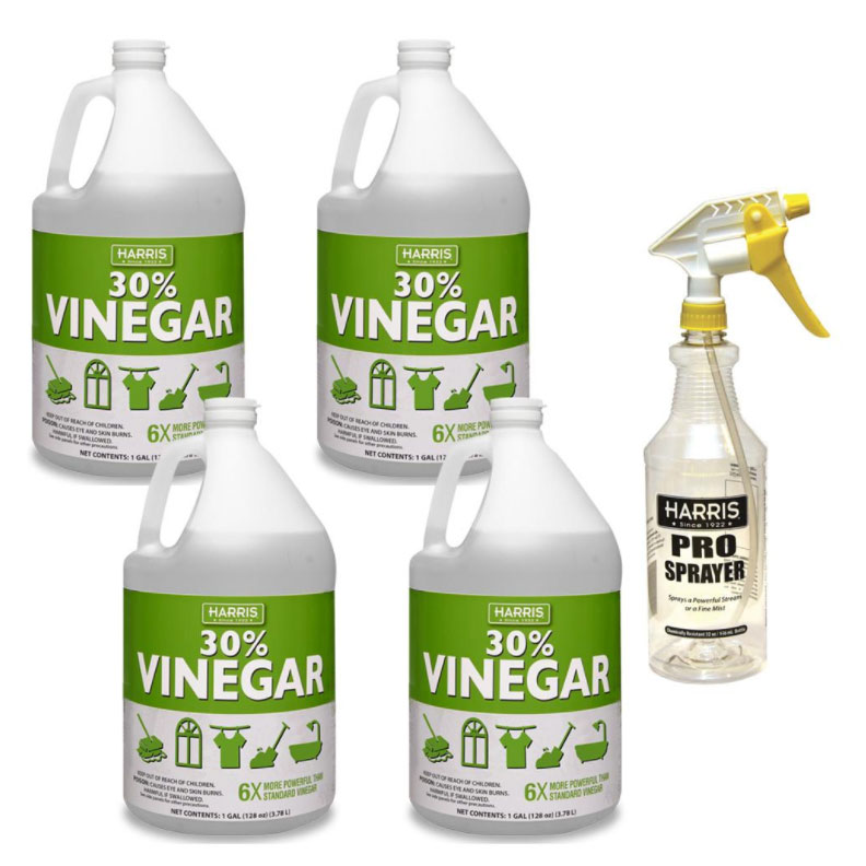 Harris 30 Percent Cleaning Vinegar Concentrate (4-Gal CASE) Plus 32 oz. Professional Spray Bottle 310921080 Freight Included