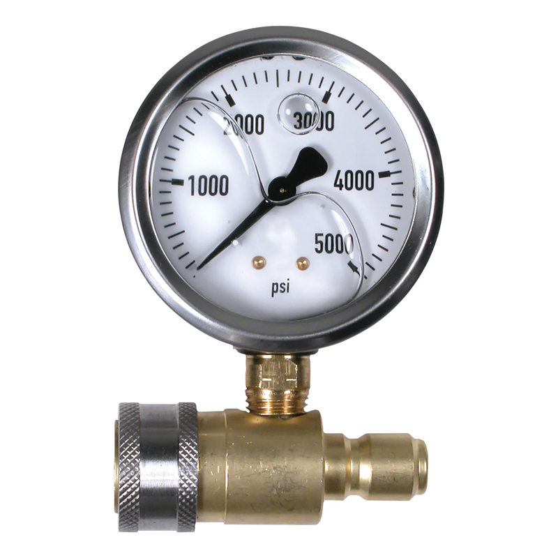 5000 psi Pressure Gauge with Pressure Washing QD Fits all NorthStar, Shark, Legacy Pressure Washers 32154